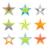 Estrelas do vetor como elementos do projeto Imagens de Stock Royalty Free