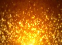 Estrelas douradas no fundo preto ilustração do vetor