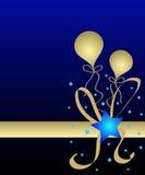 Estrelas e balões Fotos de Stock Royalty Free