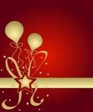 Estrelas e balões Foto de Stock