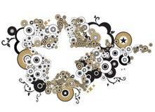 Estrelas e círculos Imagem de Stock