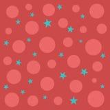 Estrelas e círculos ilustração do vetor