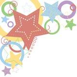 Estrelas e círculos Imagens de Stock
