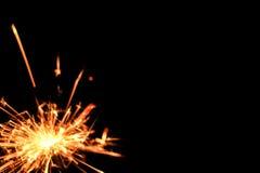 Estrelas e chuveirinhos dos fogos-de-artifício Imagem de Stock Royalty Free