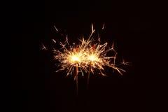 Estrelas e chuveirinhos dos fogos-de-artifício Imagem de Stock