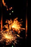 Estrelas e chuveirinhos dos fogos-de-artifício Fotos de Stock Royalty Free