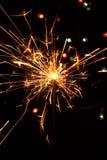 Estrelas e chuveirinhos dos fogos-de-artifício Imagens de Stock Royalty Free