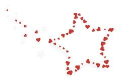 Estrelas e corações ilustração do vetor