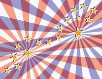 Estrelas e feixes Fotos de Stock
