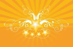 Estrelas e feixes luminosos ilustração royalty free