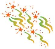 Estrelas e fita Ilustração Royalty Free