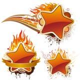 estrelas e flama ilustração royalty free