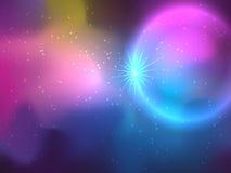 Estrelas e fundo da galáxia em cores brilhantes ilustração royalty free