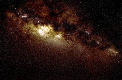 Estrelas e fundo da noite do céu do espaço da galáxia Fotografia de Stock Royalty Free