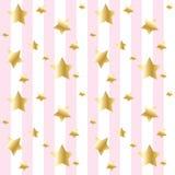 Estrelas e fundo das listras Imagem de Stock