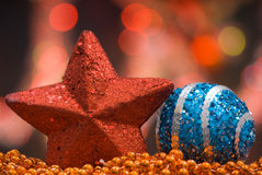 Estrelas e globos Fotografia de Stock