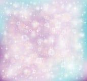 Estrelas e lantejoulas em um fundo colorido ilustração do vetor