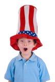 Estrelas e listras desgastando do menino Imagens de Stock Royalty Free