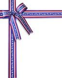 Estrelas e listras patrióticas da beira Fotografia de Stock