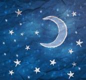 Estrelas e a lua ilustração royalty free