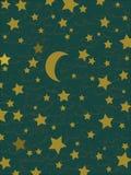 Estrelas e lua Fotografia de Stock Royalty Free