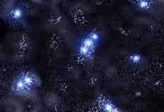 Estrelas e nebulosa ilustração stock