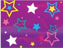 Estrelas e ondas Imagem de Stock