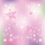 Estrelas e partículas ilustração royalty free