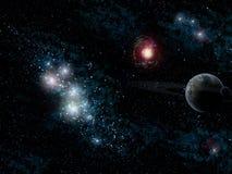 Estrelas e planeta Imagens de Stock