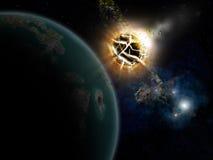 Estrelas e planeta Imagem de Stock Royalty Free