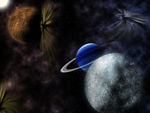 Estrelas e planetas Foto de Stock