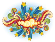 Estrelas e redemoinhos de tiro retros Foto de Stock Royalty Free