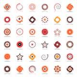 Estrelas e rotação Projete elementos em cores mornas Imagens de Stock Royalty Free