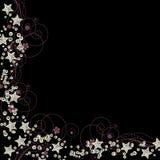 Estrelas e vetor da beira dos sequins Fotos de Stock Royalty Free