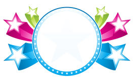 Estrelas em torno do frame Foto de Stock Royalty Free