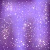Estrelas em um fundo lilás Fotografia de Stock Royalty Free