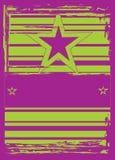 Estrelas em um fundo listrado. Ilustração do Vetor