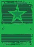 Estrelas em um fundo listrado. Ilustração Royalty Free