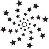 Estrelas espirais ilustração royalty free