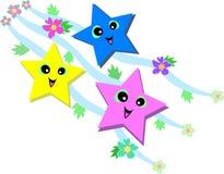 Estrelas felizes Fotografia de Stock Royalty Free