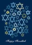 Estrelas felizes de Hanukkah Fotografia de Stock Royalty Free