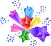 Estrelas firework ilustração royalty free