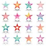 Estrelas. Jogo de elementos do projeto. Imagem de Stock