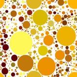 Estrelas luminosas esféricas abstratas ajustadas do ouro Fotografia de Stock