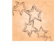 Estrelas marrons Tricolor em um fundo claro ilustração stock