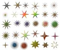 Estrelas metálicas ilustração do vetor