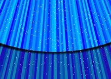Estrelas na luz azul. Vetor ilustração stock