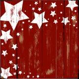 Estrelas na madeira Foto de Stock Royalty Free