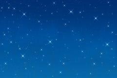 Estrelas na noite Fotografia de Stock Royalty Free