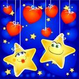 Estrelas no amor ilustração royalty free